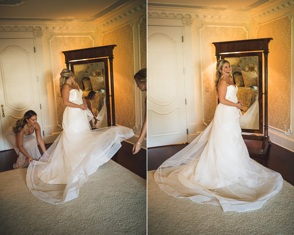 Bride Twirls in her dress