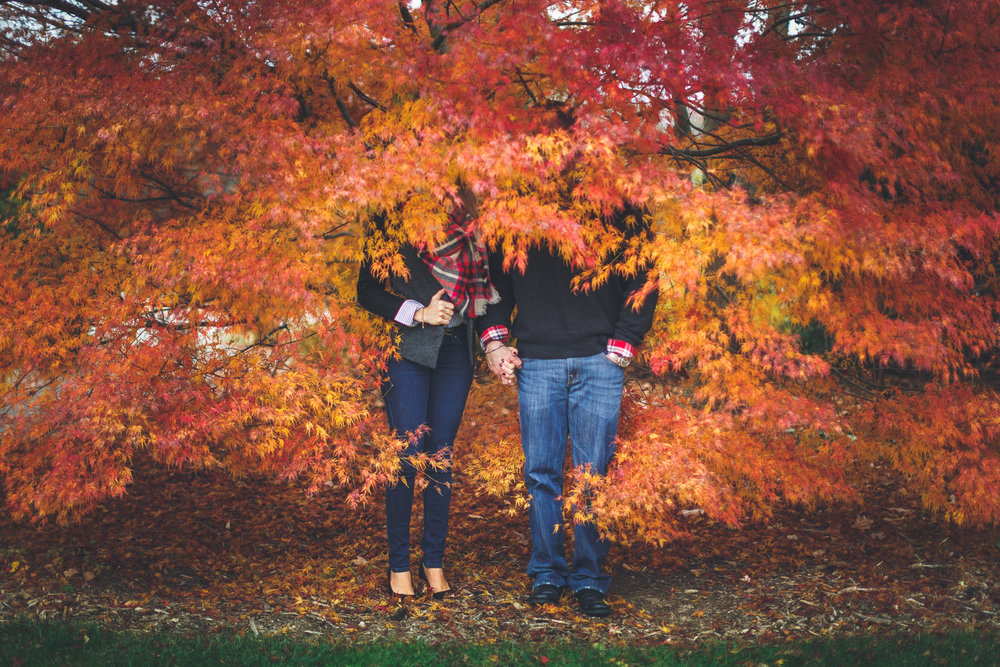New Jersey Autumn Engagement Photography