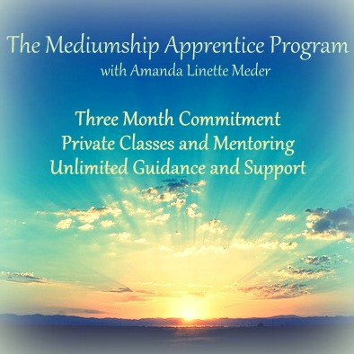 Private psychic mediumship coaching and classes. Mentorship, intuitive development. Distance and online.