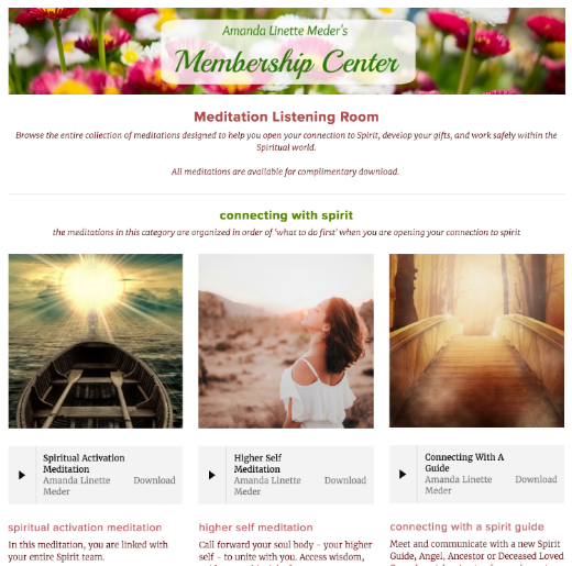 Amanda Linette Meder's Membership Program - Meditation Room