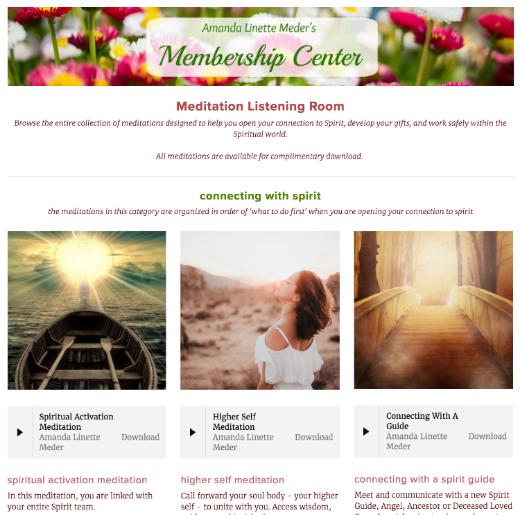 Amanda Linette Meder's Membership Program - Meditation Room
