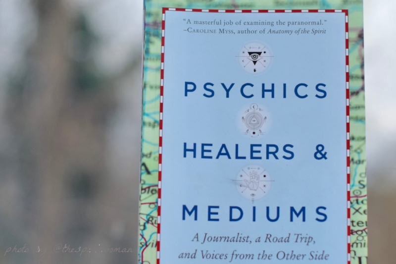 Photo of a book titled Psychics Mediums and Healers by Jenniffer Weigel also includes back links to    purchase the book on Amazon.com