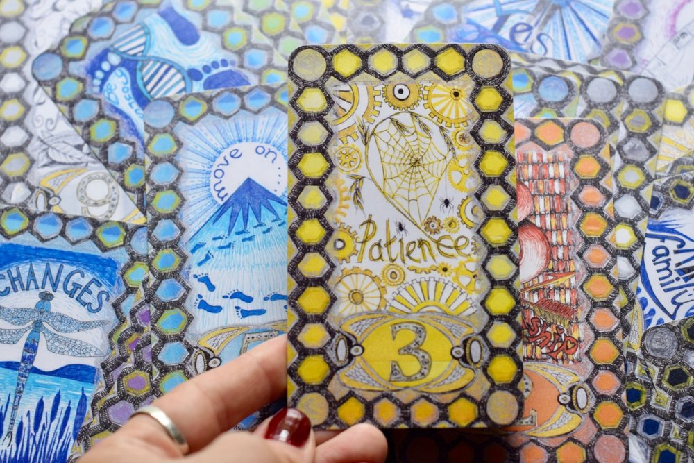 The Be Intuitive Cards Patience Card photo by Amanda Meder
