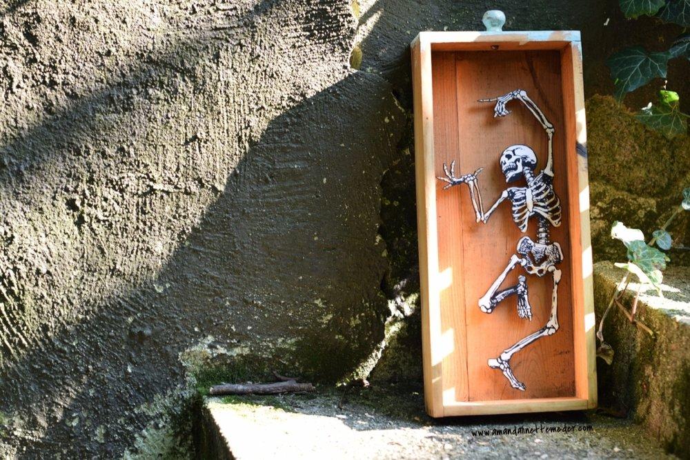 Halloween Shadow Boxes by Roadside Linen Arts of Philadelphia PA - Photo: Amanda Linette Meder