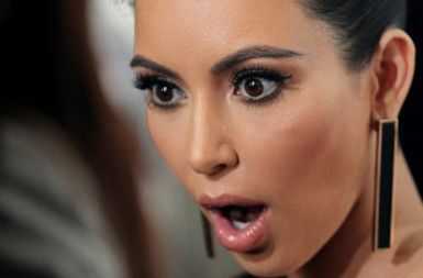 "How Kim looked when she heard what Kanye really wanted to name the baby ""North East South West""..."