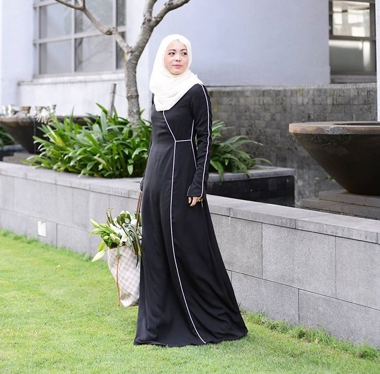 "@vivyyusof ""Ahhh this @lovetodress dress is just perfection."" as she put on her #LtDessentials Aliya in Black & White."
