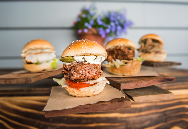 If you dont know.....these are sliders. All the same good stuff as our massive burgers...just smaller.