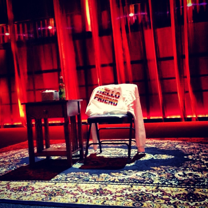 This is the set for the Bill Cosby taping. It's SO Cosby.