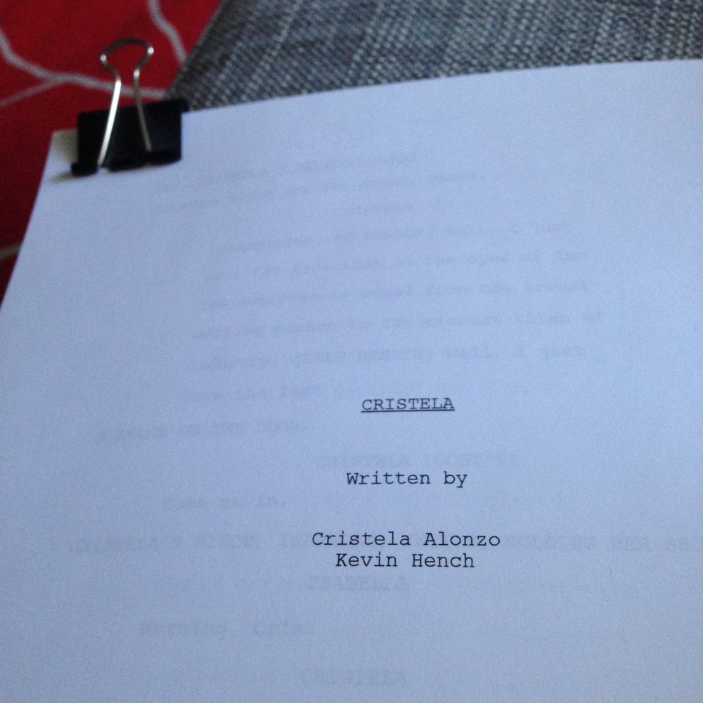 I had to take a picture of the script. I mean, come on.