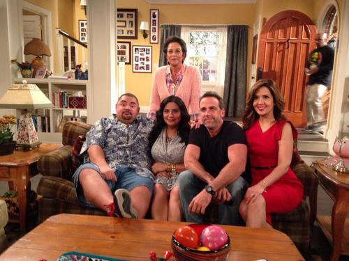 My TV family (from left to right): Gabriel Iglesias, Terri Hoyos, Carlos Ponce and Maria Canals-Barrera.