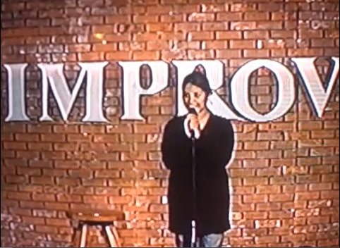 Screen shot from the first time I ever did stand up. (Addison IMPROV)