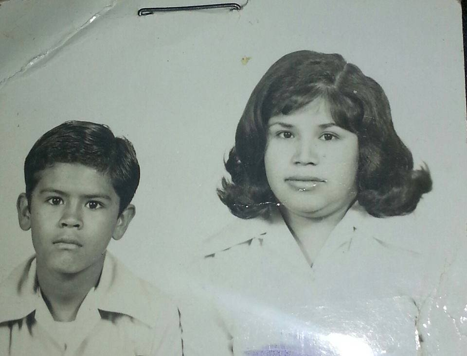 My mom Natalia and oldest brother Ruben in a pic for one of their numerous tries to get a VISA to come to the US.