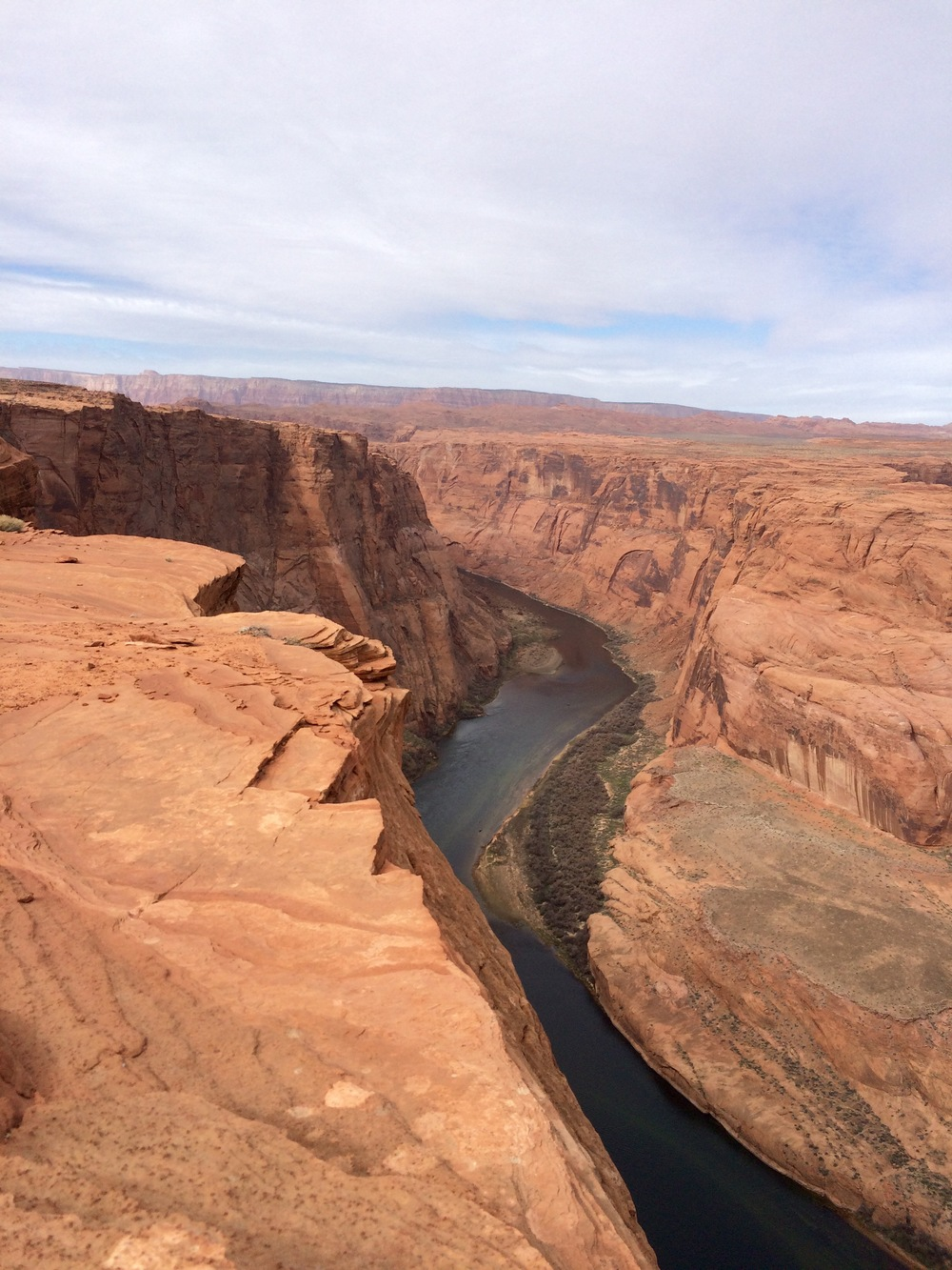 rimrock above the Colorado River. photo by K. Strong.