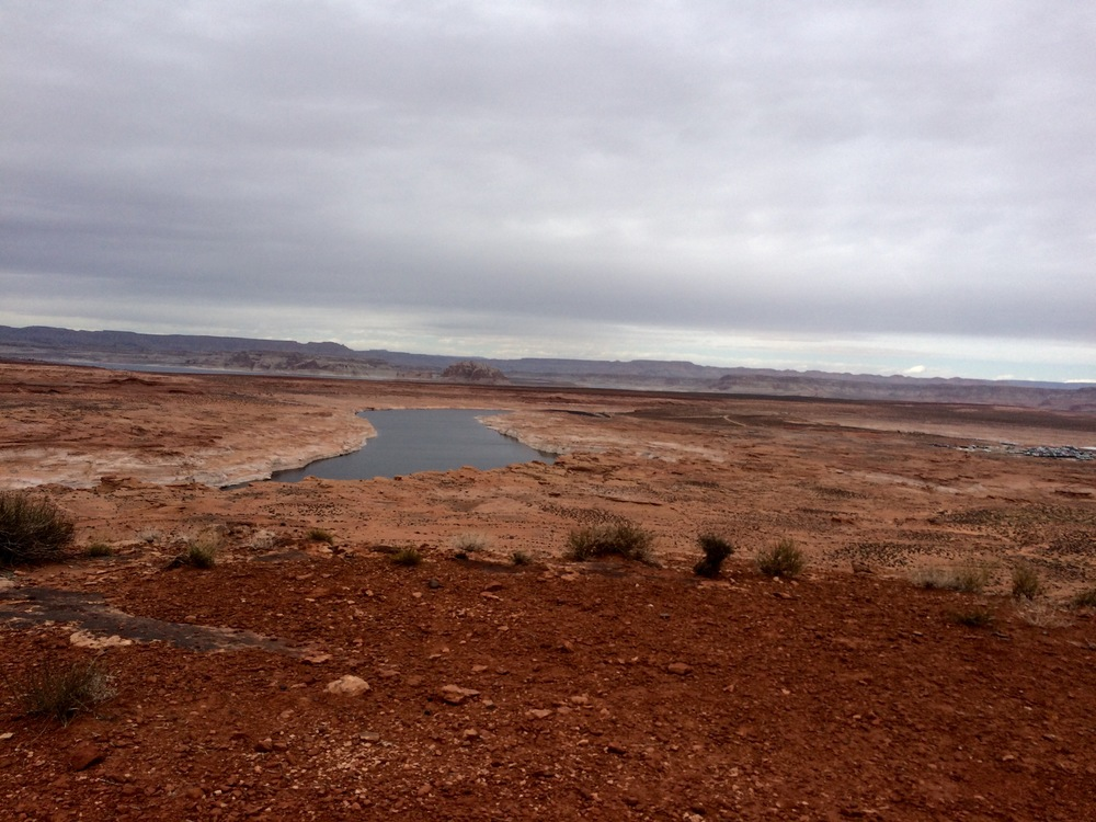 the reservoir (lake powell). photo by K. Strong.