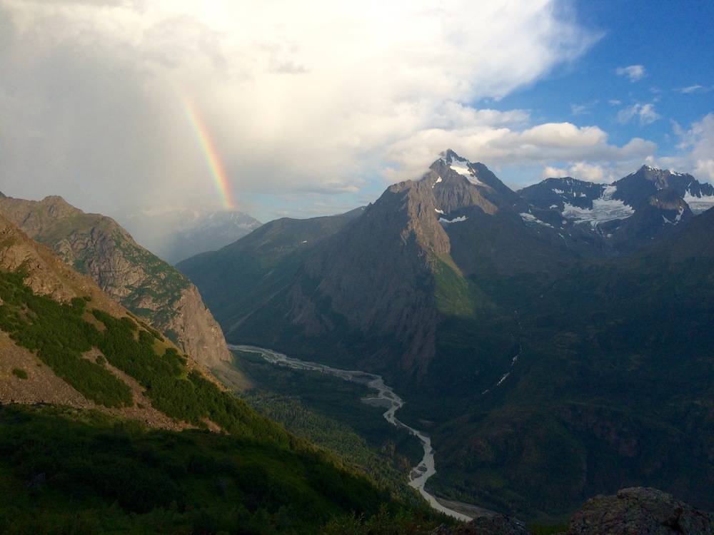 We waited out a thunderstorm before finding our way up Dishwater Creek to this amazingness. Photo by K. Strong.