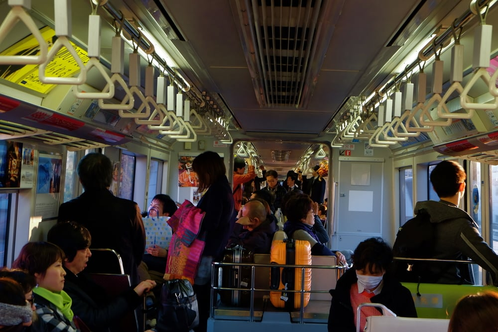 Tokyo's monorail on its way to Haneda International Airport.