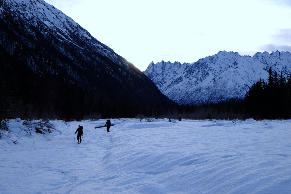Touring down the Kashwitna River. Photo by K. Strong.