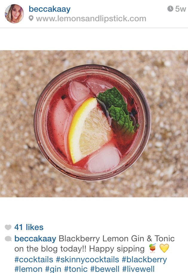 @beccakaay - A Philly native/ Nutrition student, check out her account for health + beauty inspiration (#skinnycocktails)!!!