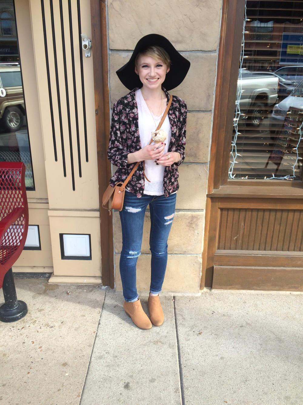 Name: Anna Style Inspiration: Audrey Hepburn because she is adorable, classic, and beautiful  Favorite Place to Shop in Fort Collins: Thrift Stores, you never know what you're going to find there!  Favorite Decade: The 1950's, definitely not the 1970's or 1980's