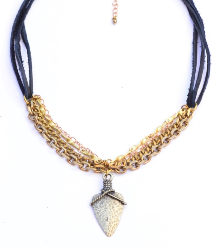 Roped+Arrowhead+Chocker+Brass-Flea+Market+Girl-Colabination-Necklace.jpg