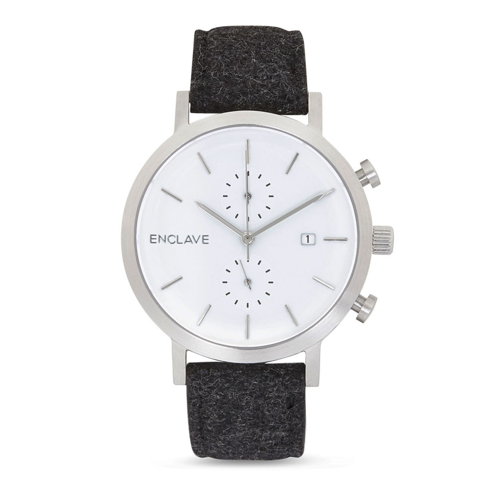 http://colabination.com/products/enclave/the-chrono-silverblack-tweed
