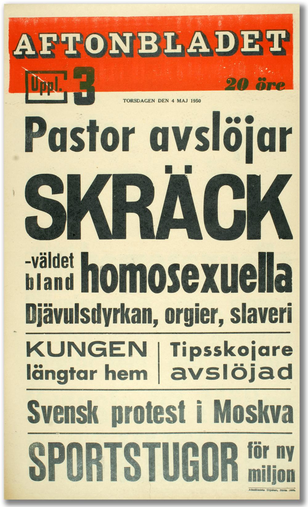 Något stort på spåren. Aftonbladet, 4 maj 1950.