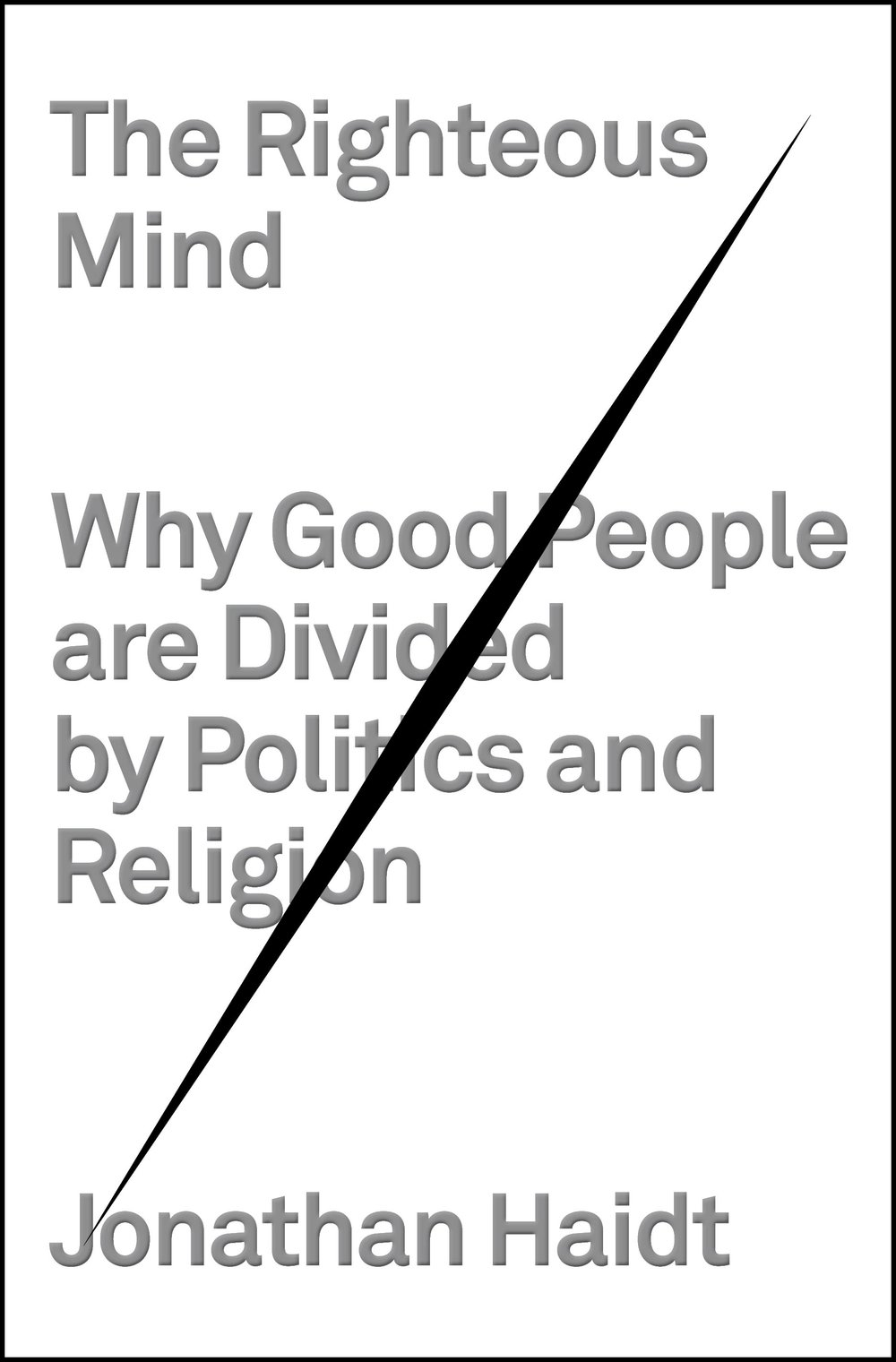 Jonathan Haidt • The righteous mind: Why good people are divided by politics and religion • Pantheon Books, 2012.