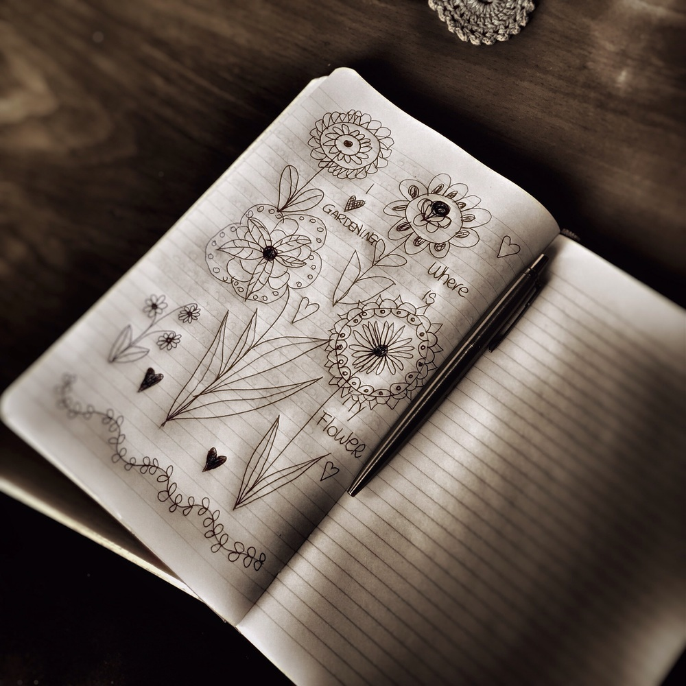 Sketching on my journal