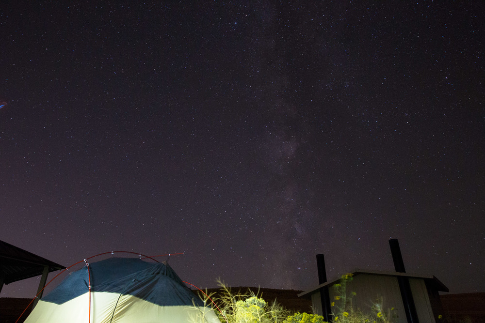 Camp site on a clear night