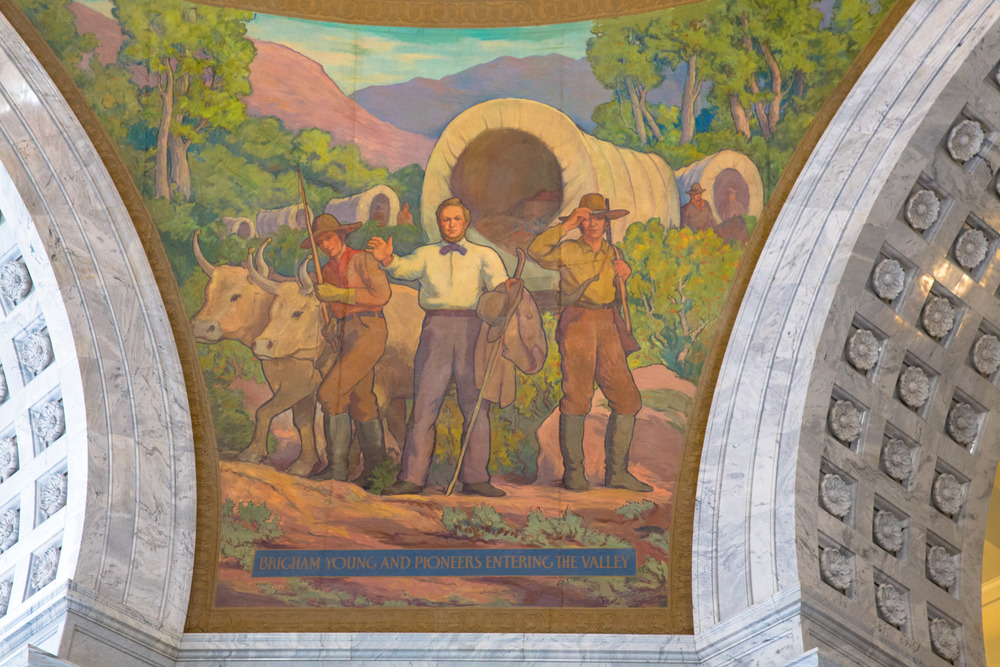 Mural in the Utah Capitol