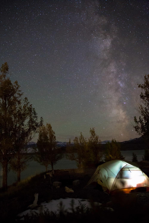 Camping at Buffalo Bill State Park, Wyoming