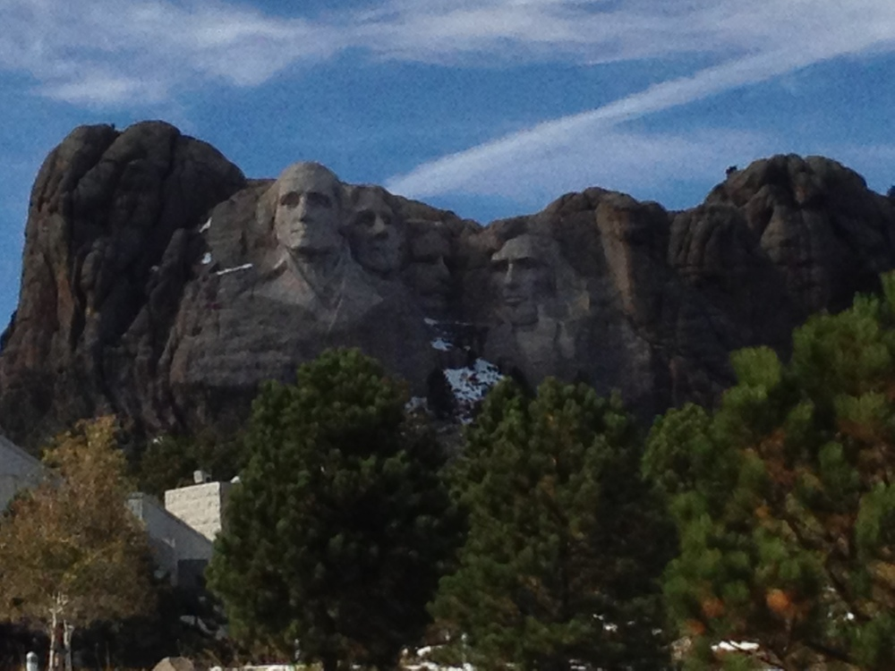 Drive-by of Mt. Rushmore. No time for fancy photos here!