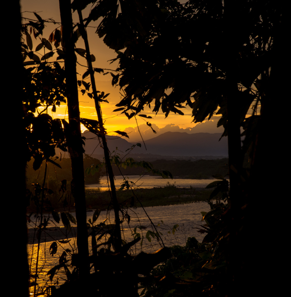 Sunset over the Tuichi River at the Madidi Jungle Ecolodge