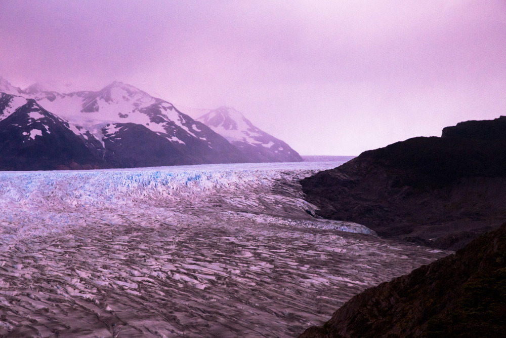 Sunset over Grey Glacier