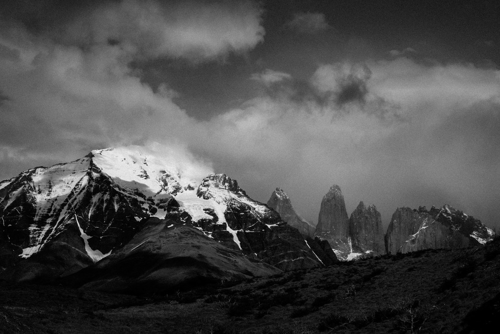 Our first view of the Torres del Paine from the park entrance