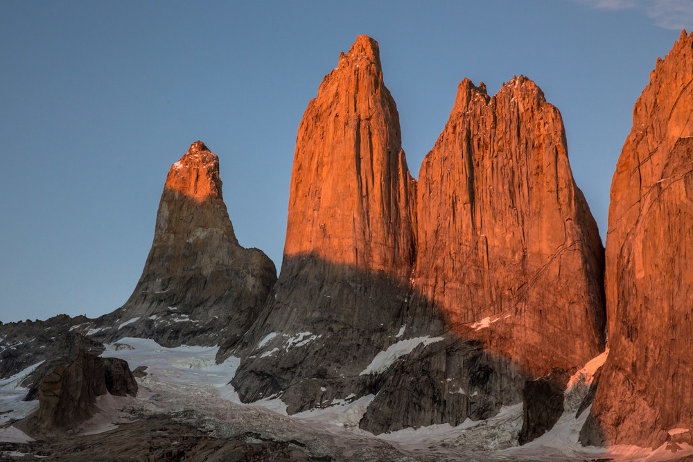 The Torres del Paine at sunrise