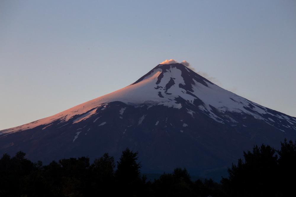 Sunrise over Villaricca volcano