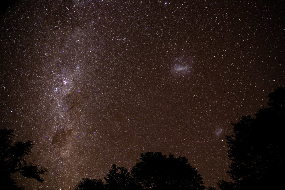 The clearest, darkest skies I have ever seen. The photos don't capture my awe.