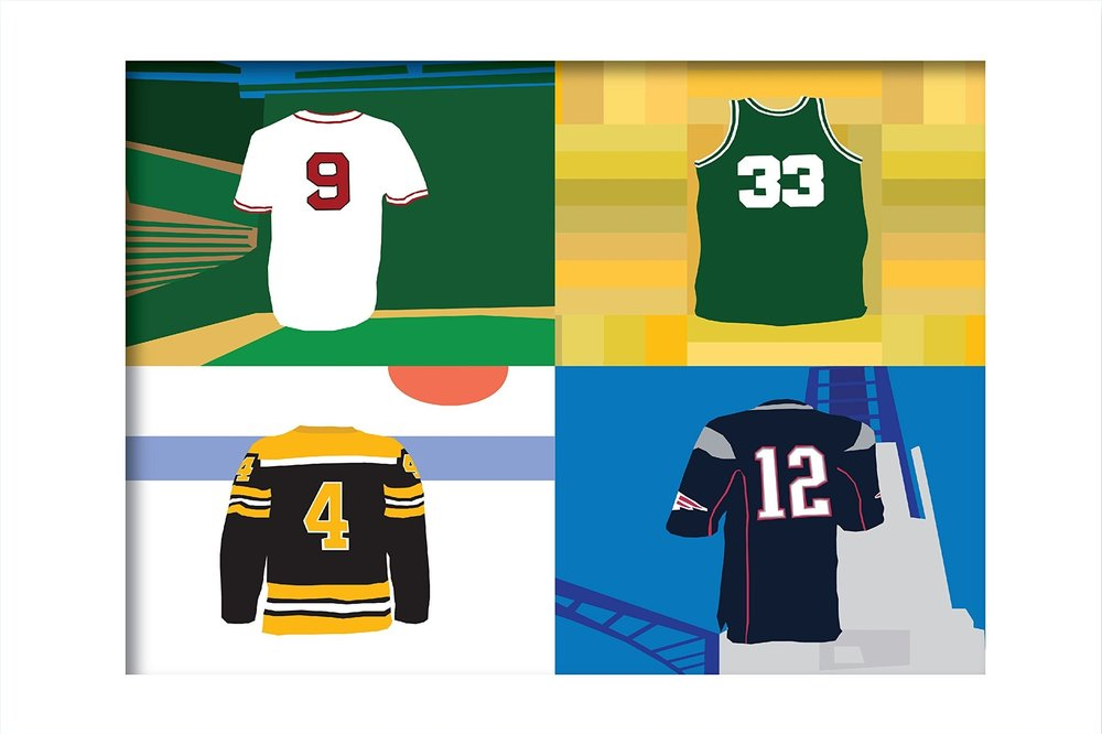 BOSTON JERSEYS 11 x 14 Print