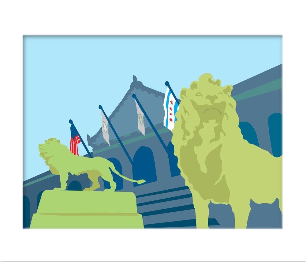 ART INSTITUTE  16 x 20 Print