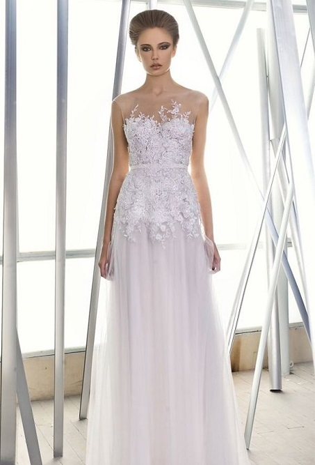 Illusion Neckline Wedding Gowns for your Body Type