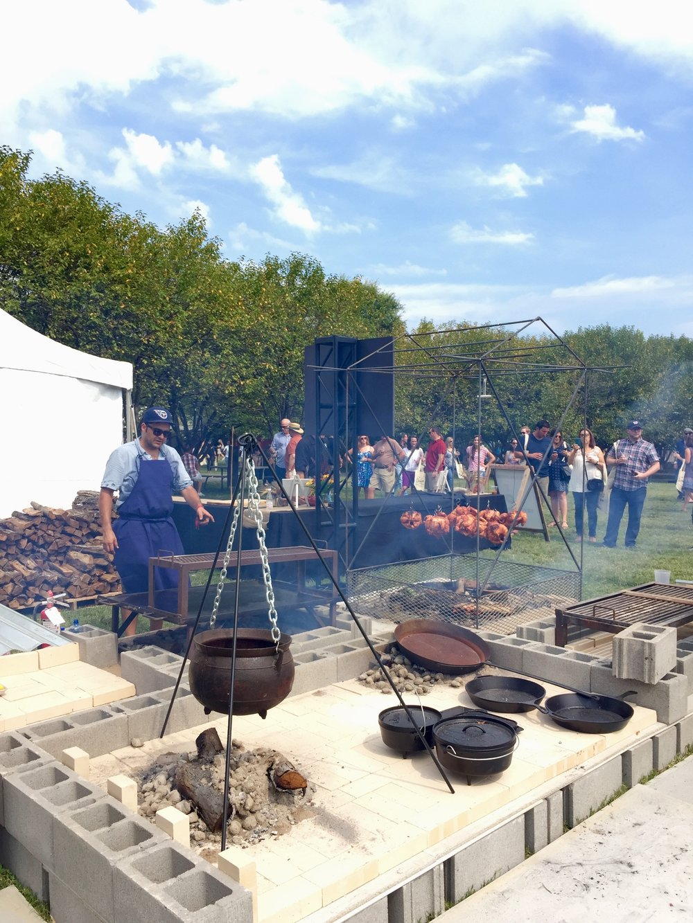 Music City Food + Wine Festival 2014 & 2015    (chef talent & culinary operations management)   It wouldn't be Nashville without barbecue and campfire cookery; which along with a cooking demo tent, grand taste and gospel brunch filled downtown Nashville with heavenly smells all weekend-long.