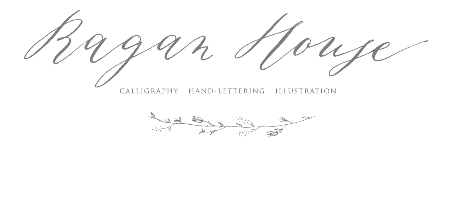 Ragan House Lettering