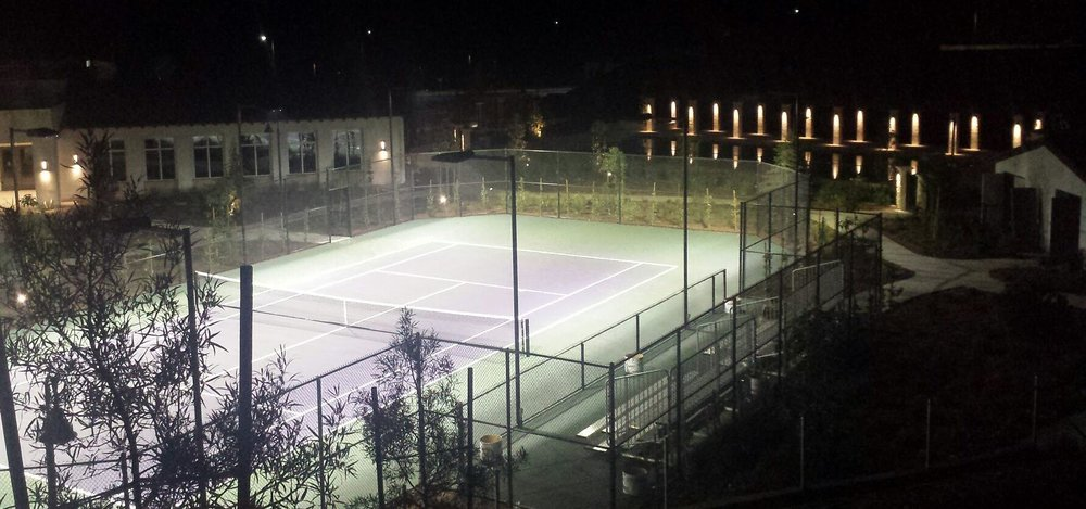 Parking lot, site, sports and pool lighting designed and installed by BEI.