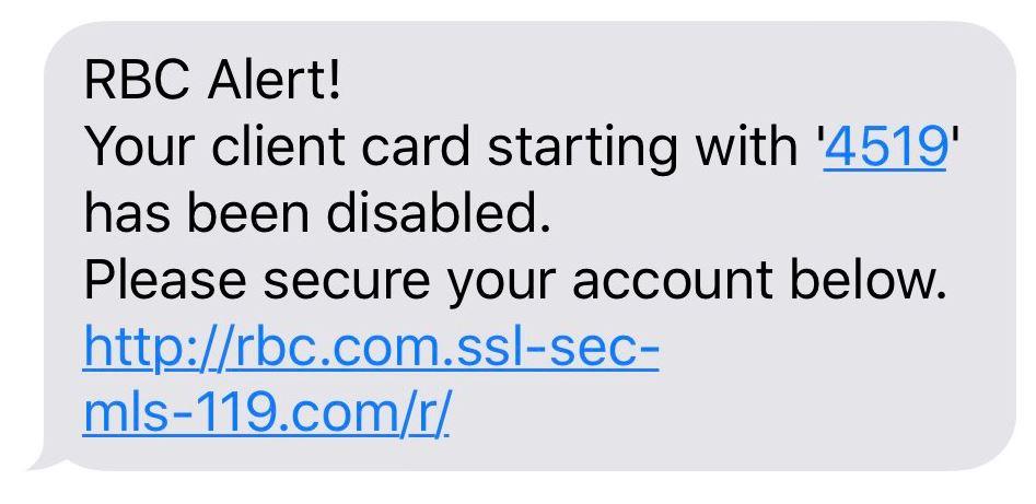 Smishing (SMS + Phishing)