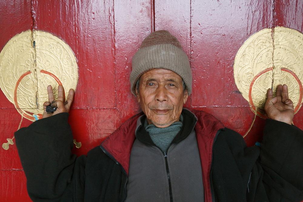 Gompa Gatekeeper. Darjeeling, India
