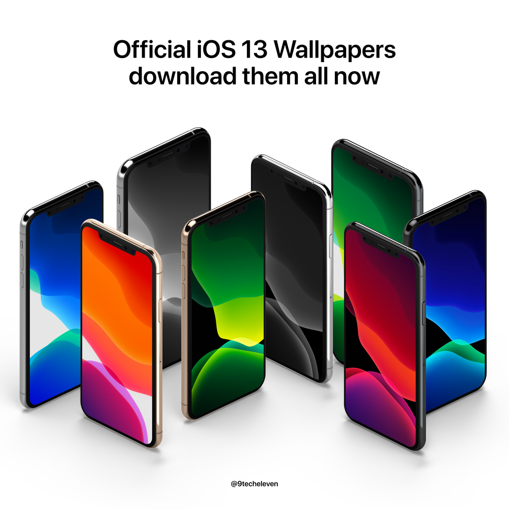 iOS13: Download all the Wallpapers Now — 9 Tech Eleven