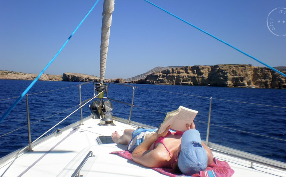 Sailing the Dodecanese islands in Greece.