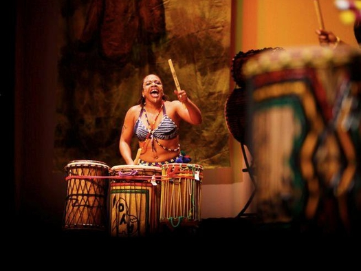 Founder Tosha 'Ayo' Alston of  Ayodele Drum & Dance