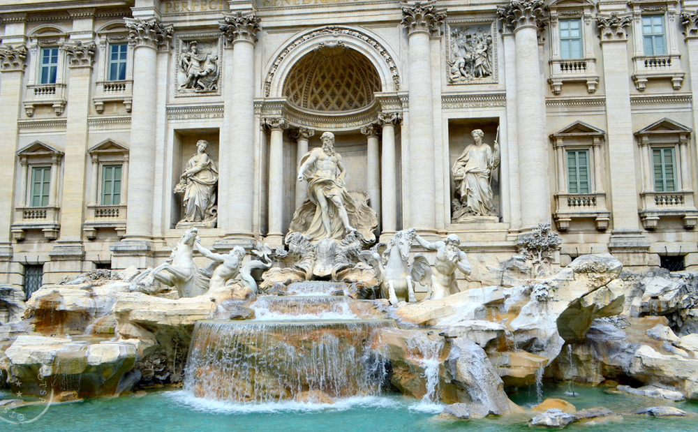The fabled Trevi fountain, Rome